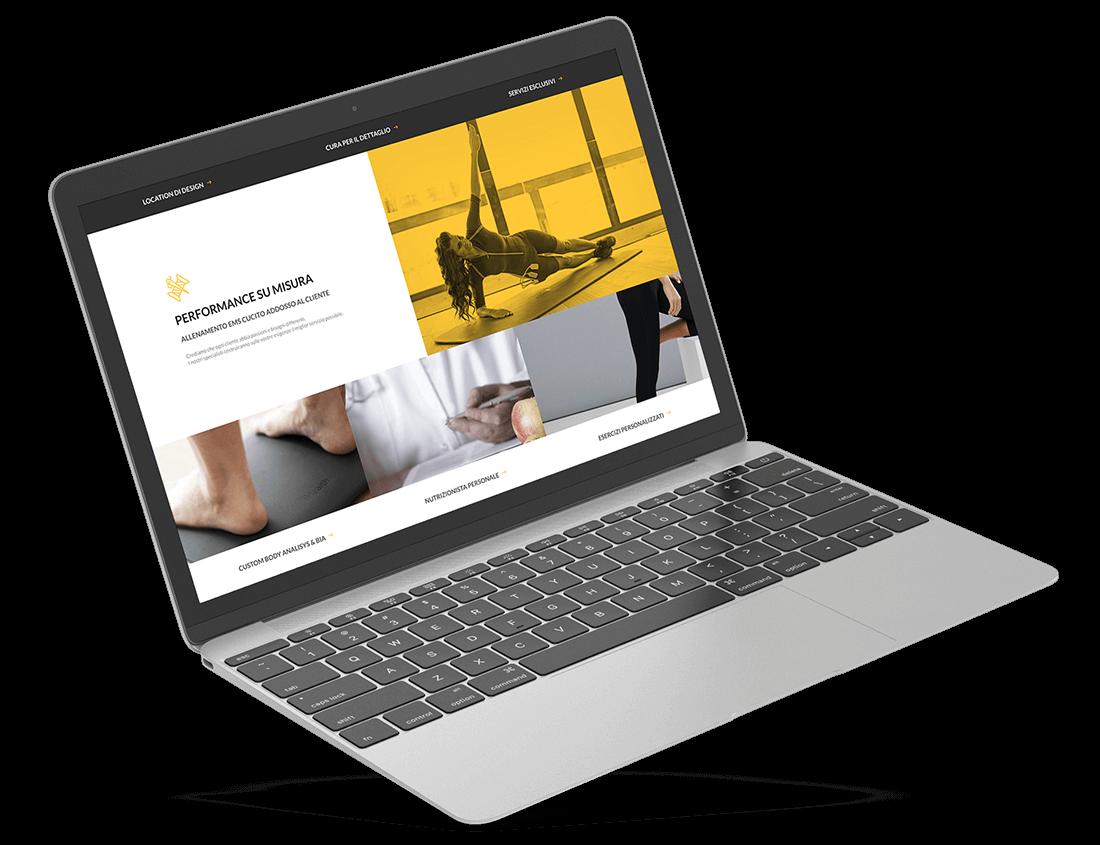 Realizzazione di sito web a padova per palestra fitness EMS