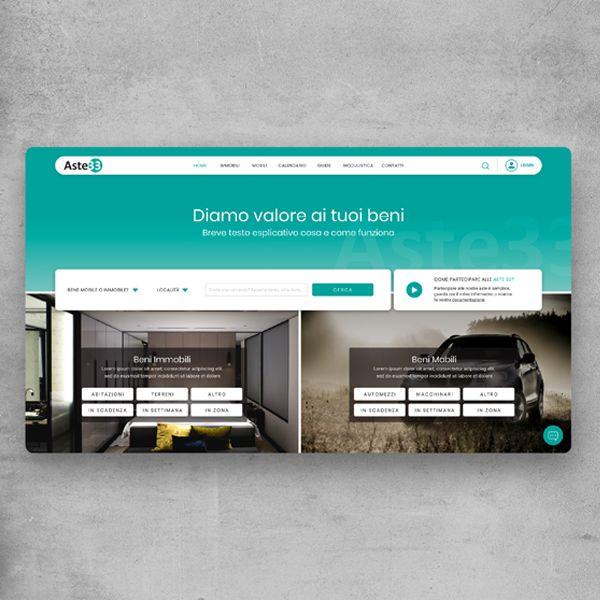 UX/UI sito web Aste33